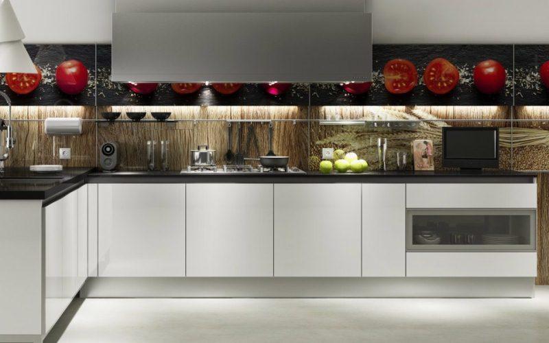 Glass Front Kitchen