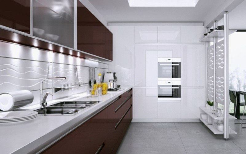 Kitchen with Glass Doors