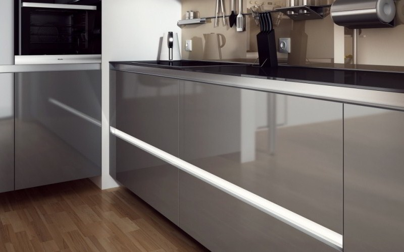 Kitchen with Glass Panels