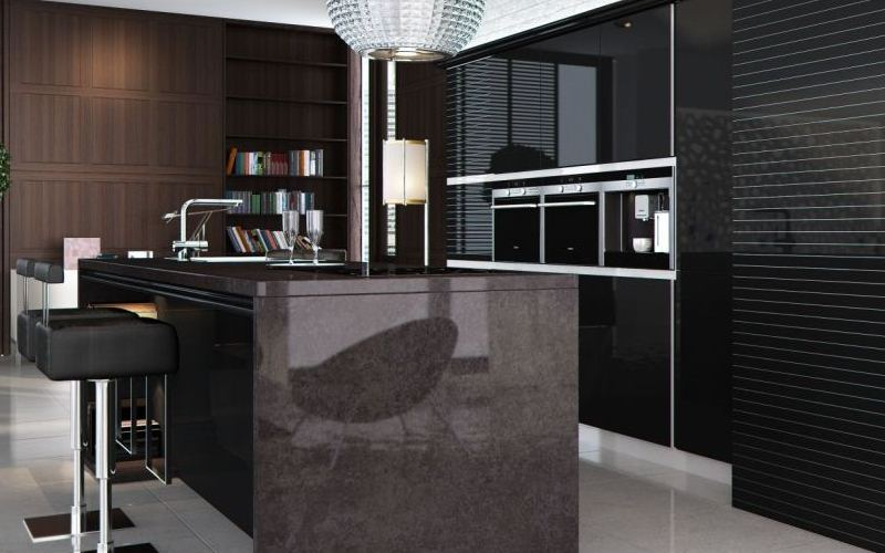 Black Lacquered Kitchen