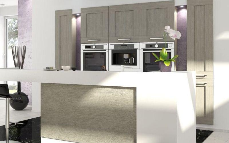 Grey Oak Laminate Kitchen